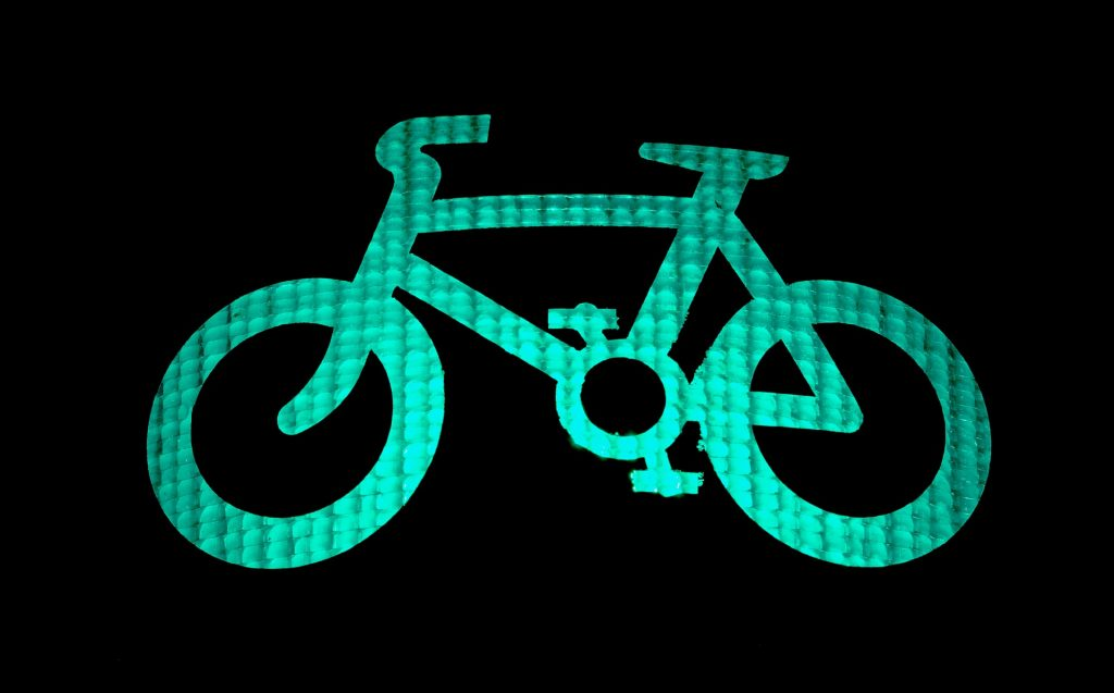 bright green bicycle
